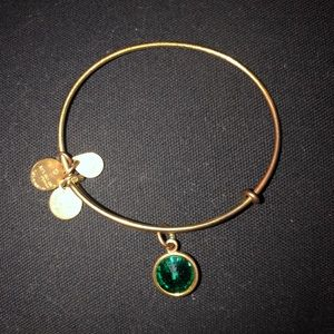 Gold 'May' Birthstone Alex & Ani Bracelet